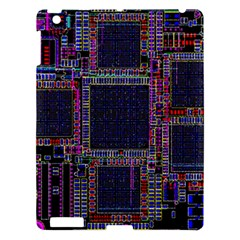 Cad Technology Circuit Board Layout Pattern Apple Ipad 3/4 Hardshell Case