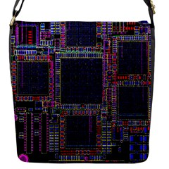 Cad Technology Circuit Board Layout Pattern Flap Messenger Bag (s)