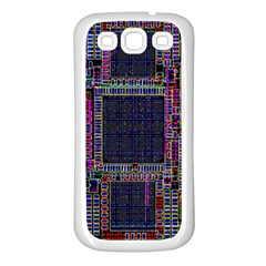 Cad Technology Circuit Board Layout Pattern Samsung Galaxy S3 Back Case (white)