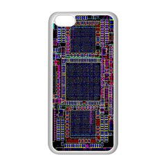 Cad Technology Circuit Board Layout Pattern Apple Iphone 5c Seamless Case (white)