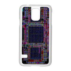 Cad Technology Circuit Board Layout Pattern Samsung Galaxy S5 Case (white)
