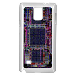 Cad Technology Circuit Board Layout Pattern Samsung Galaxy Note 4 Case (white)