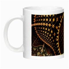 Brown Fractal Balls And Circles Night Luminous Mugs