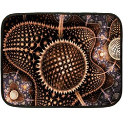 Brown Fractal Balls And Circles Double Sided Fleece Blanket (mini)