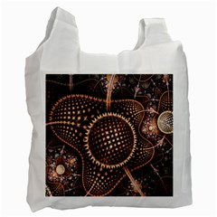 Brown Fractal Balls And Circles Recycle Bag (one Side)