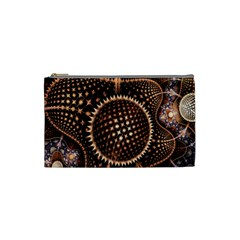 Brown Fractal Balls And Circles Cosmetic Bag (small)