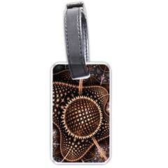 Brown Fractal Balls And Circles Luggage Tags (one Side)