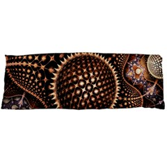 Brown Fractal Balls And Circles Body Pillow Case Dakimakura (two Sides)