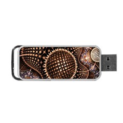 Brown Fractal Balls And Circles Portable Usb Flash (one Side)
