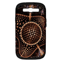 Brown Fractal Balls And Circles Samsung Galaxy S Iii Hardshell Case (pc+silicone)