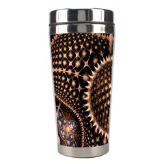 Brown Fractal Balls And Circles Stainless Steel Travel Tumblers