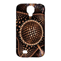 Brown Fractal Balls And Circles Samsung Galaxy S4 Classic Hardshell Case (pc+silicone)
