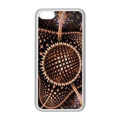 Brown Fractal Balls And Circles Apple Iphone 5c Seamless Case (white)