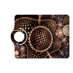 Brown Fractal Balls And Circles Kindle Fire Hd (2013) Flip 360 Case