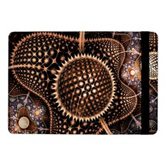 Brown Fractal Balls And Circles Samsung Galaxy Tab Pro 10 1  Flip Case