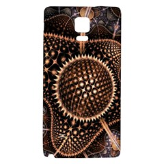 Brown Fractal Balls And Circles Galaxy Note 4 Back Case