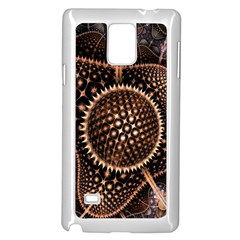 Brown Fractal Balls And Circles Samsung Galaxy Note 4 Case (white)