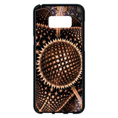 Brown Fractal Balls And Circles Samsung Galaxy S8 Plus Black Seamless Case