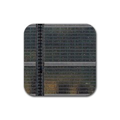 Building Pattern Rubber Square Coaster (4 Pack)