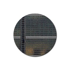 Building Pattern Rubber Round Coaster (4 Pack)