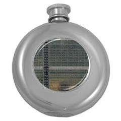Building Pattern Round Hip Flask (5 Oz)