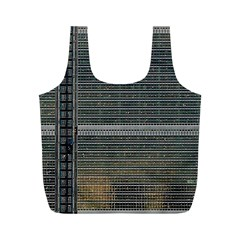 Building Pattern Full Print Recycle Bags (m)