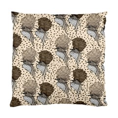 Bouffant Birds Standard Cushion Case (two Sides)