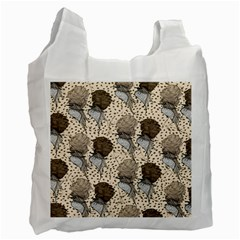Bouffant Birds Recycle Bag (one Side)