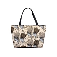 Bouffant Birds Shoulder Handbags