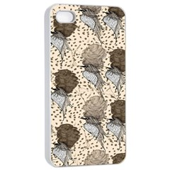 Bouffant Birds Apple Iphone 4/4s Seamless Case (white)