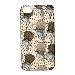 Bouffant Birds Apple Iphone 4/4s Hardshell Case With Stand