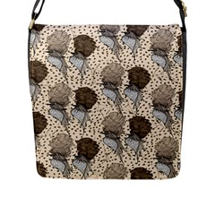Bouffant Birds Flap Messenger Bag (l)