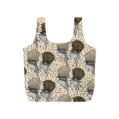 Bouffant Birds Full Print Recycle Bags (s)