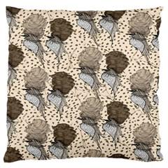Bouffant Birds Large Flano Cushion Case (one Side)
