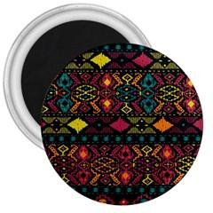 Bohemian Patterns Tribal 3  Magnets