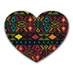 Bohemian Patterns Tribal Heart Mousepads