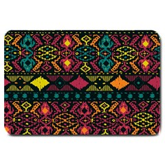 Bohemian Patterns Tribal Large Doormat