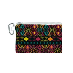 Bohemian Patterns Tribal Canvas Cosmetic Bag (s)