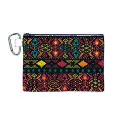 Bohemian Patterns Tribal Canvas Cosmetic Bag (m)