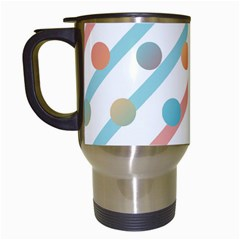 Simple Saturated Pattern Travel Mugs (white)
