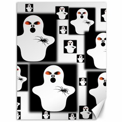 Funny Halloween   Ghost Pattern 2 Canvas 36  X 48
