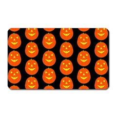 Funny Halloween   Pumpkin Pattern 2 Magnet (rectangular)