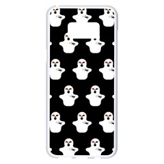 Funny Halloween   Ghost Pattern Samsung Galaxy S8 Plus White Seamless Case