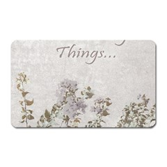 Shabby Chic Style Motivational Quote Magnet (rectangular)