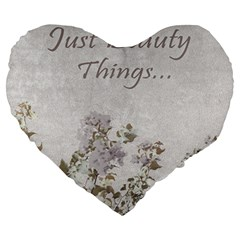Shabby Chic Style Motivational Quote Large 19  Premium Heart Shape Cushions