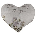 Shabby Chic Style Motivational Quote Large 19  Premium Flano Heart Shape Cushions Front
