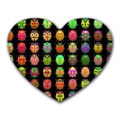 Beetles Insects Bugs Heart Mousepads
