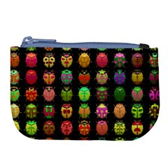 Beetles Insects Bugs Large Coin Purse