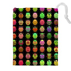 Beetles Insects Bugs Drawstring Pouches (xxl)