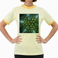 Blue Lotus Women s Fitted Ringer T Shirts